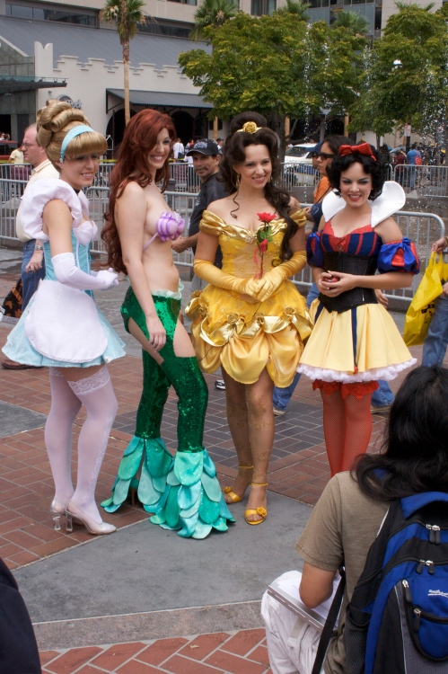 Disney Princesses Pose for the camera