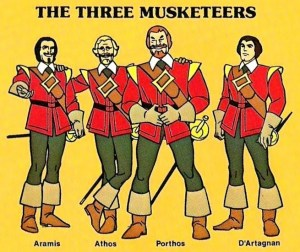 THREE MUSKETEERS HANNA-BARBERA