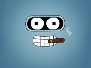 futurama_cartoons_bender_smoking